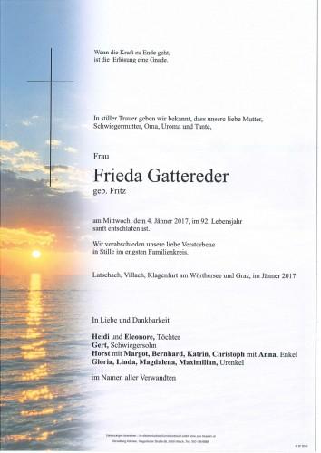 Frieda Gattereder