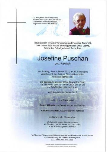Josefine Puschan geb. Ropatsch