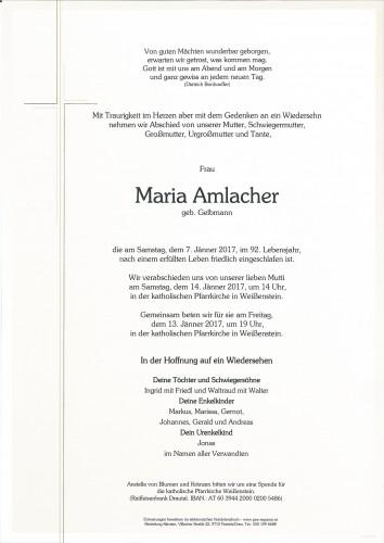 Maria Amlacher, geb. Gelbmann