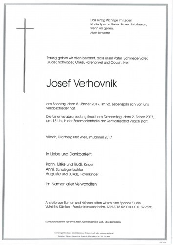 Josef Verhovnik