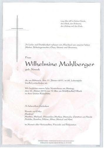 Wilhelmine Mahlberger
