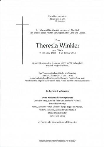 Theresia Winkler, geb. Fötsch
