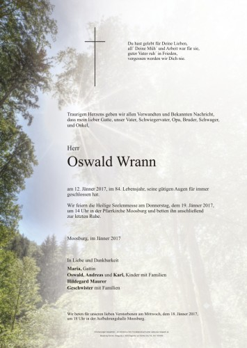 Oswald Wrann