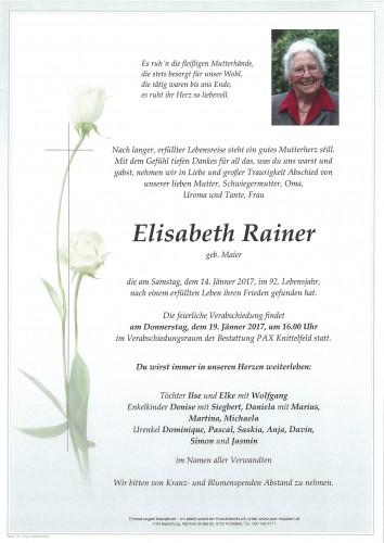 Elisabeth Rainer