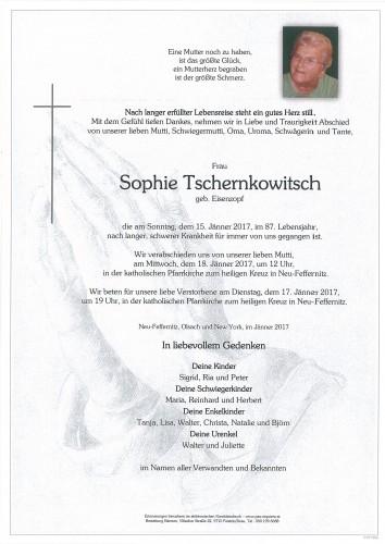 Sophie Tschernkowitsch, geb. Eisenzopf