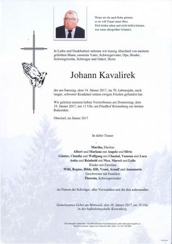 Johann Kavalirek