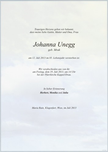 Johanna Unegg