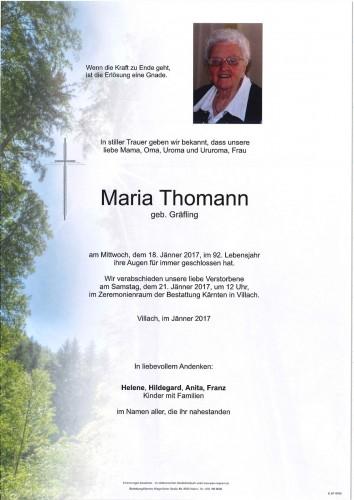 Maria Thomann geb. Gräfling