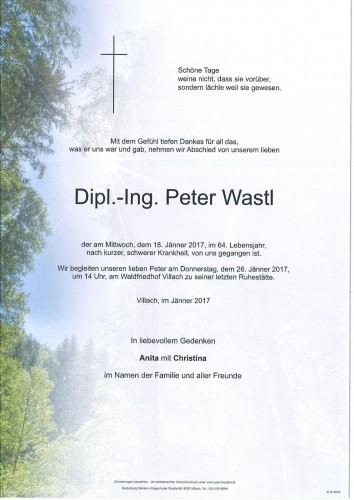 Dipl.-Ing. Peter Wastl