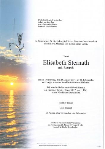 Elisabeth Sternath geb. Rumpolt