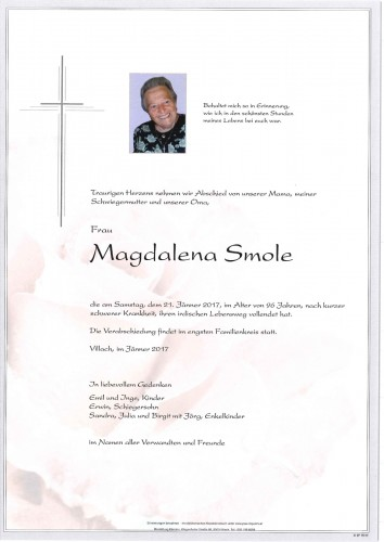 Magdalena Smole geb. Diexer