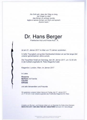Dr. Hans Berger