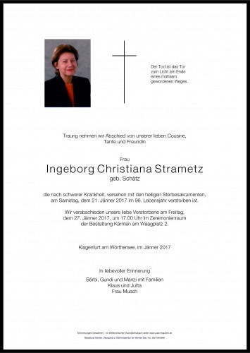 Ingeborg Christiana Strametz