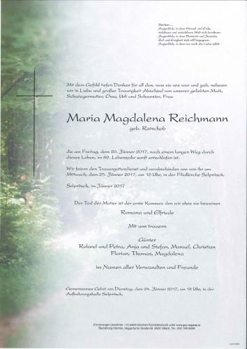Maria Magdalena Reichmann