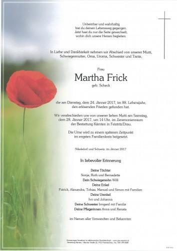 Martha Frick, geb. Scheck