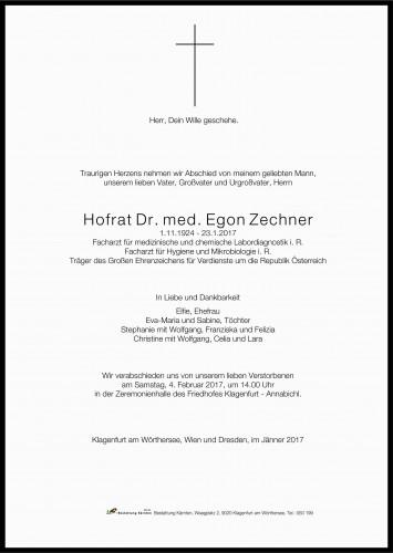 Dr. med. Egon Zechner