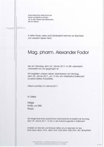 Mag. pharm. Alexander Fodor