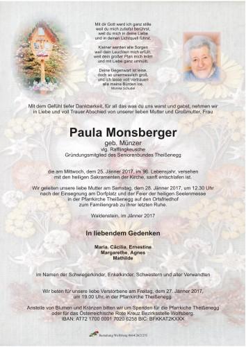 Paula Monsberger