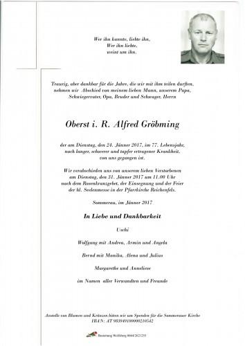 Oberst i. R. Alfred Gröbming