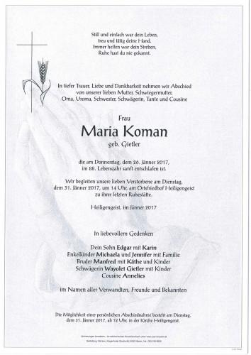 Maria Koman