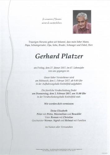 Gerhard Platzer