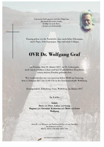 OVR Dr. Wolfgang Graf