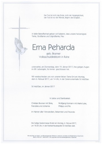 Erna Peharda geb. Brunner