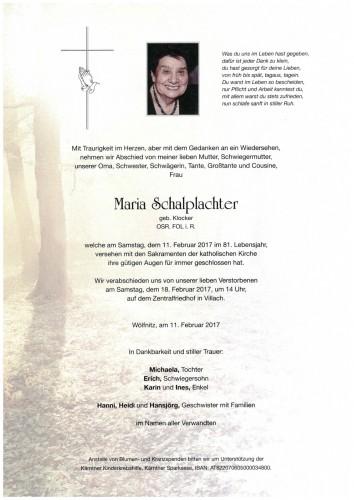 OSR FOL Maria Schalplachter