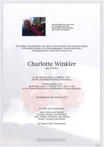 Charlotte Winkler geb. Fichtner