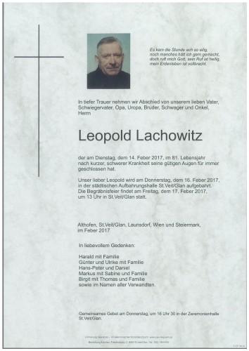 Leopold Lachowitz