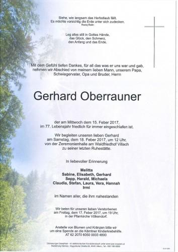 Gerhard Oberrauner