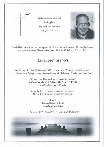 Lenz Josef Gregori