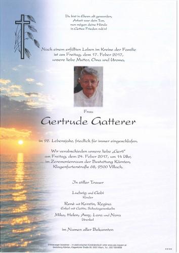 Gertrude Gatterer
