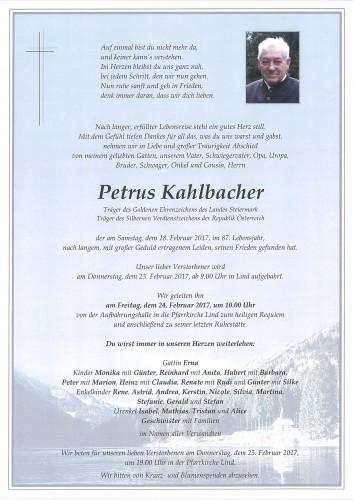 Petrus Kahlbacher