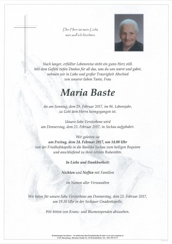 Maria Baste