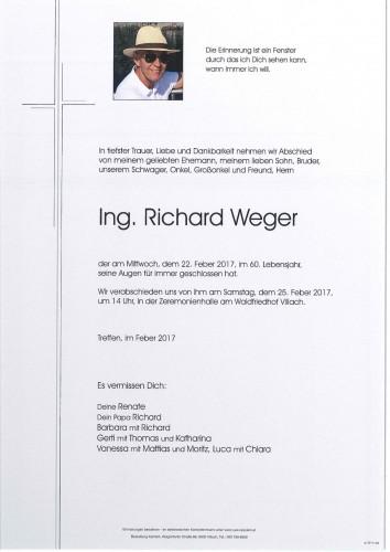 Ing. Richard Weger