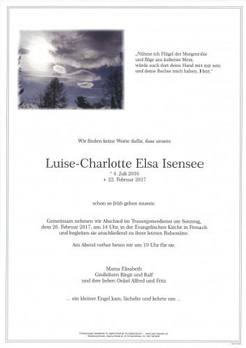 Luise-Charlotte Elsa Isensee