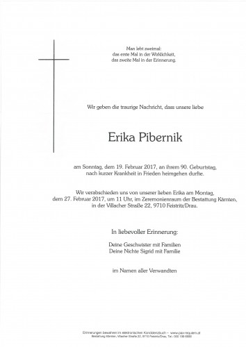 Erika Josefine Pibernik