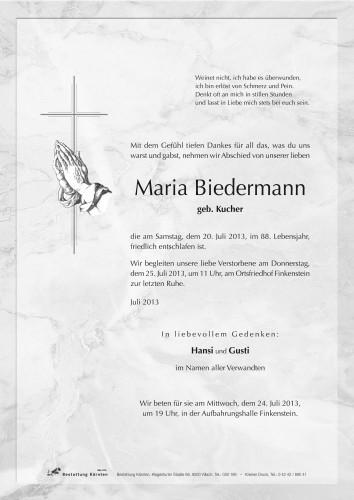 Maria Biedermann