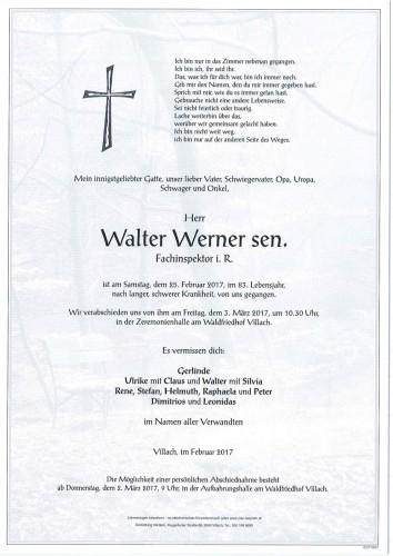 Walter Werner sen.