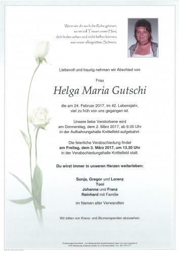 Helga Maria Gutschi