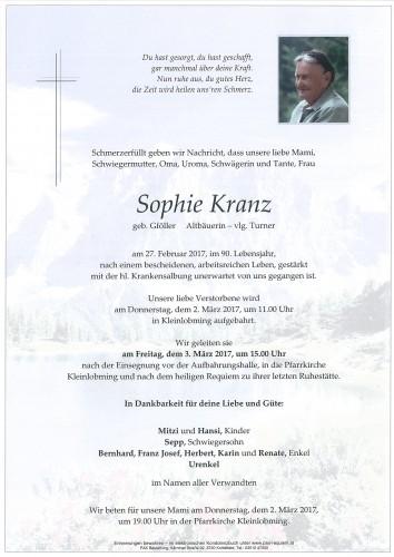 Sophie Kranz, vlg. Turner