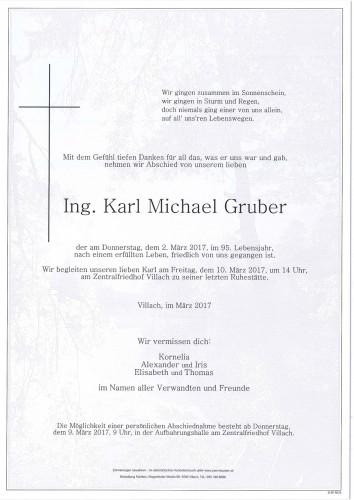 Ing. Karl Michael Gruber