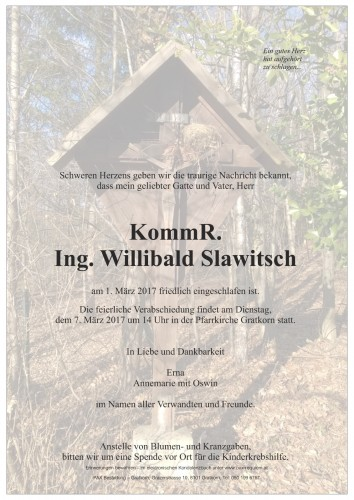KommR. Ing. Willibald Slawitsch