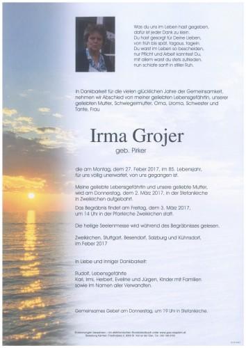 Irma Grojer  geb. Pirker