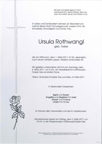 Sabina Ursula Rothwangl