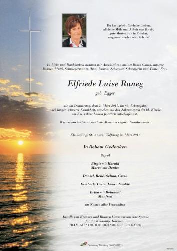 Elfriede Luise Raneg