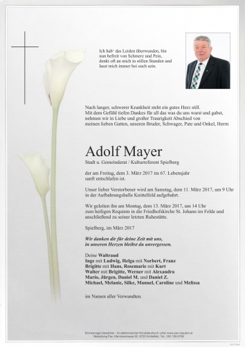 Adolf Mayer