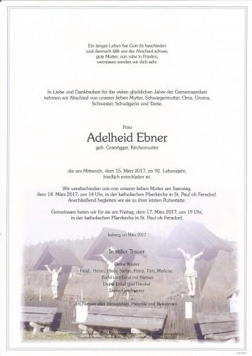 Adelheid Ebner, geb. Granögger, Kirchermutter