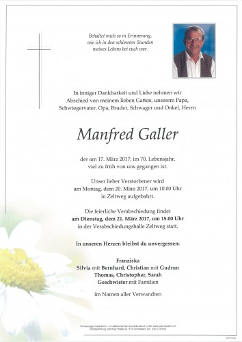 Manfred Galler